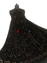 Load image into Gallery viewer, Black Mukaish Chikankari Anarkali Suit