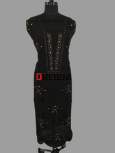 Load image into Gallery viewer, Black Organza Beads Chikankari Suit with Heavy Banarasi Dupatta - Dress365days