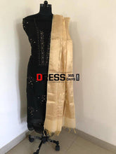 Load image into Gallery viewer, Black Organza Beads Chikankari Suit With Heavy Banarasi Dupatta Suits