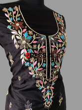 Load image into Gallery viewer, Black Organza Multicolour Chikankari Suit Suits