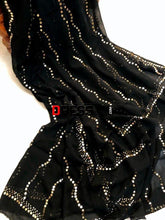 Load image into Gallery viewer, Black Pure Georgette Kamdani Dupatta Chikankari