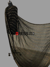 Load image into Gallery viewer, Black Pure Georgette Kamdani Dupatta