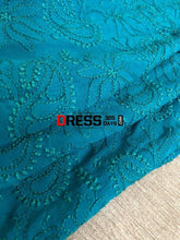 Load image into Gallery viewer, Bottle Green Lucknow Chikankari Dupatta
