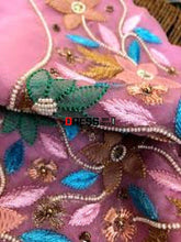 Load image into Gallery viewer, Chikankari And Beads Organza Kurti Fabric