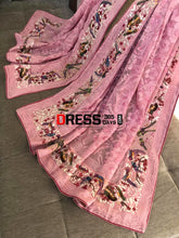 Load image into Gallery viewer, Chikankari Parsi Gara & French Knot Hand Embroidered Dupatta