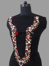 Load image into Gallery viewer, Chikankari Suit with Mukaish and Parsi Ghara Neckline