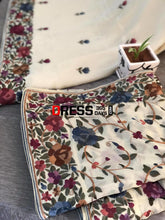 Load image into Gallery viewer, Cream Parsi Gara Hand Embroidered Suit (Three Piece) Suits