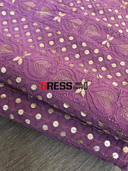 Dusty Mauve Gota Patti Chikankari Suit Suits