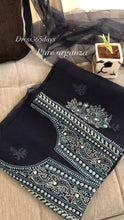 Load and play video in Gallery viewer, Midnight Blue Beads & Chikankari Suit