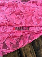 Load image into Gallery viewer, Fuschia Net Chikankari Dupatta