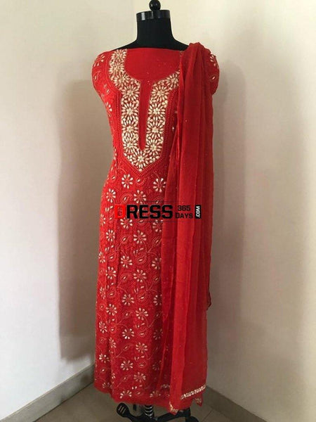 Gota Patti Chikankari Suit Suits