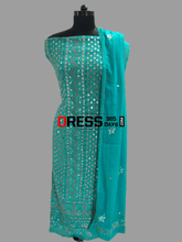 Load image into Gallery viewer, Green Mirror & Gota Patti Chikankari Suit Suits