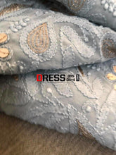 Load image into Gallery viewer, Grey Gota Patti Chikankari Suit Suits