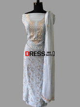 Load image into Gallery viewer, Grey Gota Patti Chikankari Suit