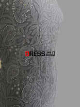 Load image into Gallery viewer, Hand Embroidered Grey Chikankari And Parsi Gara Suit (Three Piece) Suits