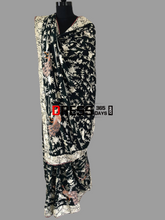 Load image into Gallery viewer, Hand Embroidered Mehndi Green Parsi Gara Saree (Pure Crepe)