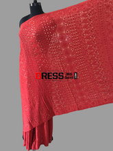 Load image into Gallery viewer, Heirloom Pick Red Chikankari and Kamdani Work Saree