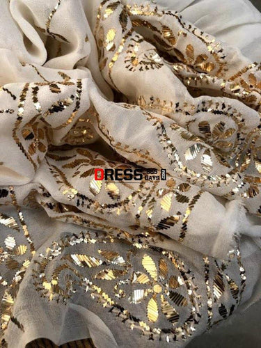 Ivory All Over Mukaish Suit Chikankari Suits