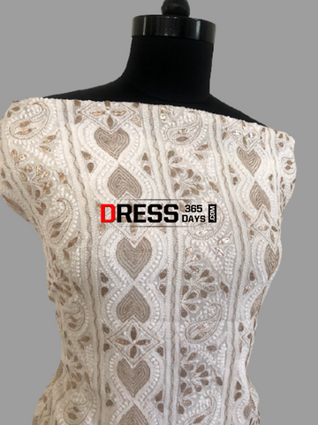 Ivory Gota Patti Chikankari Suit Suits