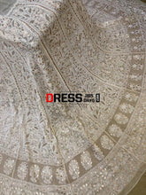 Load image into Gallery viewer, Ivory Gota Patti & Pearls Chikankari Lehenga Skirt (Only Skirt)