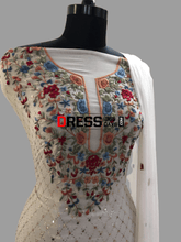 Load image into Gallery viewer, Ivory Kamdani & Parsi Gara Suit Chikankari Suits