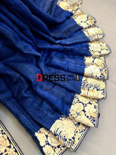 Load image into Gallery viewer, Jute Silk Parsi Gara Hand Embroidered Saree