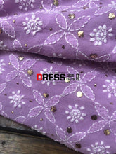 Load image into Gallery viewer, Lilac Hand Embroidered Chikankari Suit Suits