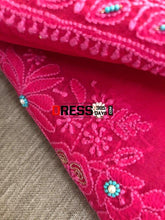 Load image into Gallery viewer, Magenta Organza Beads Chikankari Suit Suits