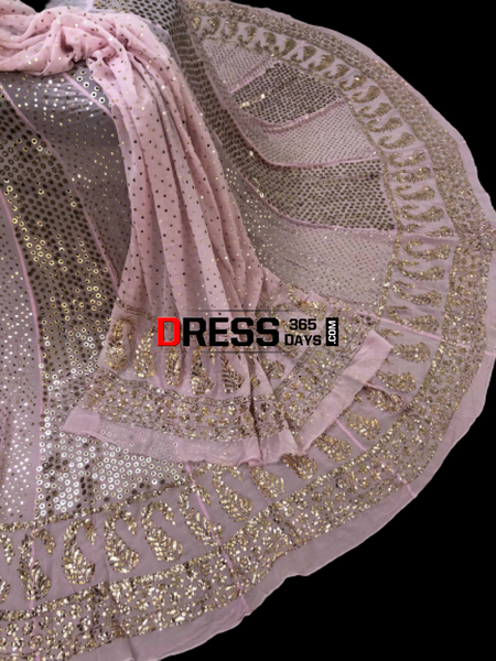 Masterpiece Ring Mukaish Lehenga Set Chikankari