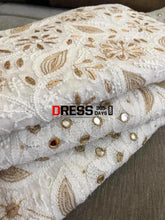 Load image into Gallery viewer, Mirror Gota Patti & Pearl Work Lehenga Set Chikankari