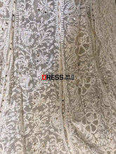 Load image into Gallery viewer, Mukaish And Chikankari Hand Embroidered Lehenga Set