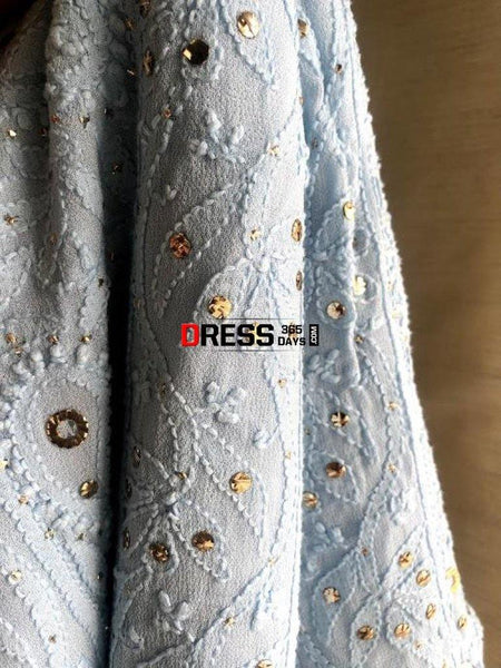Mukaish Chikankari Viscose Georgette Suit Suits