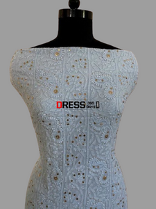 Mukaish Chikankari Viscose Georgette Suit