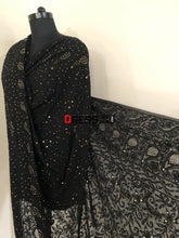Load image into Gallery viewer, Mukaish Lucknowi Chikankari Dupatta
