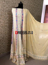 Load image into Gallery viewer, Multicolour Lucknowi Chikankari Anarkali Suit