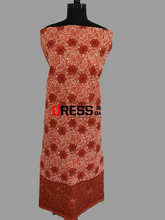 Load image into Gallery viewer, Terracotta Net Daaman Cotton Chikankari Kurti Fabric - Dress365days