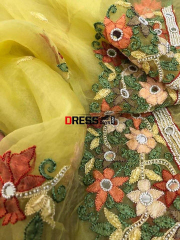 Organza Beads And Chikankari Suit Suits