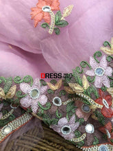 Load image into Gallery viewer, Organza Beads And Chikankari Suit Suits