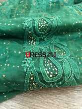 Load image into Gallery viewer, Organza Chikankari Suit With Mukaish Work Suits