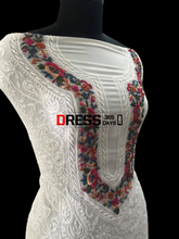 Load image into Gallery viewer, Parsi Gara Neckline Chikankari Suit
