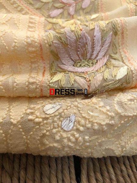 Parsi Gara Suits With Chikankari Embroidery
