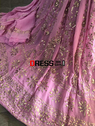 Party Wear All Over Mukaish Anarkali (Anarkali And Dupatta) Kamdani