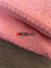 Load image into Gallery viewer, Peachy Pink Fine Chikankari Suit Suits