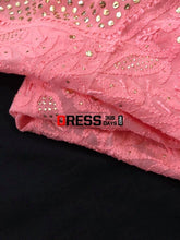 Load image into Gallery viewer, Peachy Pink Mukaish Chikankari Suit Suits