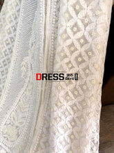 Load image into Gallery viewer, Pearl And Sequins Work Chikankari Anarkali Suit Dupatta