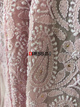Load image into Gallery viewer, Pink Chikankari Suit With Mukaish And Parsi Embroidered Daaman Suits