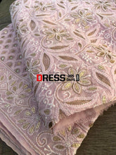 Load image into Gallery viewer, Pink Hand Embroidered Gota Patti Chikankari Dupatta