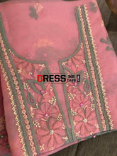 Load image into Gallery viewer, Pink Pure Organza Chikankari & Beads Suit Suits