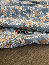 Load image into Gallery viewer, Powder Blue Gota Patti Chikankari Dupatta