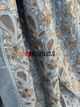 Load image into Gallery viewer, Powder Blue Gota Patti Chikankari Suit Suits